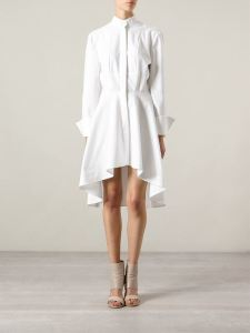 Doralle-Medinas-2014-BET-Awards-After-Party-McQ-by-Alexander-McQueen-Asymmetric-White-Shirt-Dress1